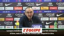 Sarri «Ma femme dit que je suis une tête de c...» - Foot - ITA - Juventus
