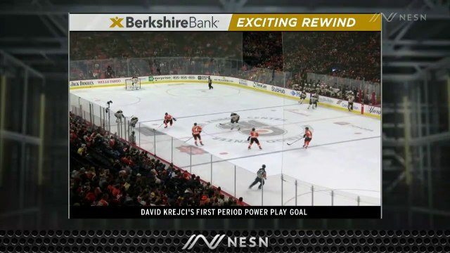 David Krejci Notches First Of Two Goals With Power Play Strike Vs. Flyers