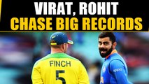 VIRAT KOHLI, ROHIT SHARMA EYE BIG RECORDS AGAINST AUSSIES | Oneindia News
