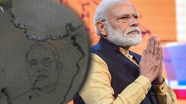 Modi's fan encraves Modi's picture on Diamond   MODI   DIAMOND   ONEINDIA KANNADA