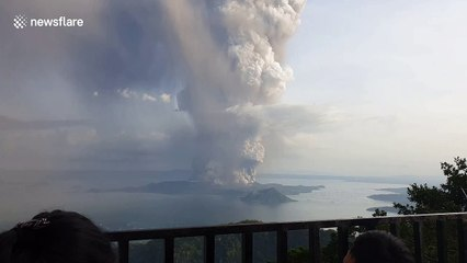 Further Footage Of Taal Volcano Eruption In The Philippines