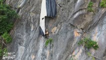 Austrian parachutist rescued after getting stuck on high cliff in Thailand