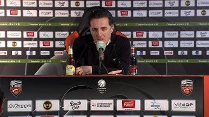 La réaction de Christophe Pelissier après FC Lorient - Caen (2-1) 19-20