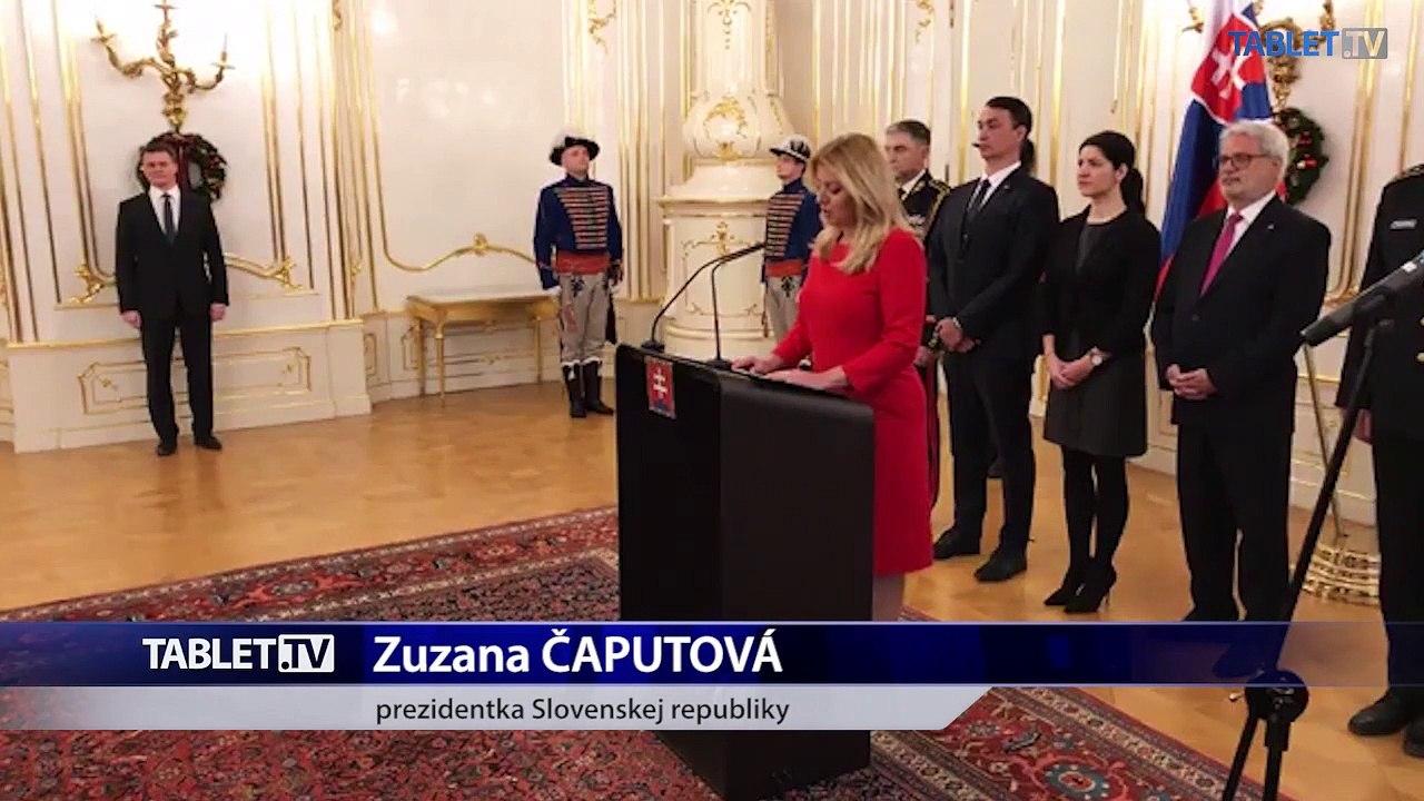 ZÁZNAM: Príhovor prezidentky Z. Čaputovej