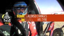 Dakar 2020 - Étape 9 / Stage 9 - Alonso changes his tyre