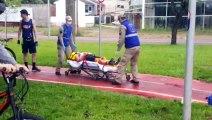 Mulher é atropelada por ciclista na ciclovia da Av. Tancredo Neves