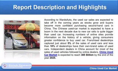 China Used Car Market will be 385 Billion by 2025