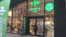 Bruxelles - visite du nouveau Carrefour City sur Boulevard Anspach