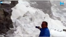 Scary Video: Glacier wall breaks and slides on to Himachal Pradesh highway