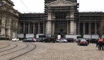 Des dizaines de chauffeurs LVC manifestent à Bruxelles