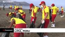 Opération nettoyage sur la côte ouest du Pérou