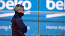Setien leads first Barcelona training session