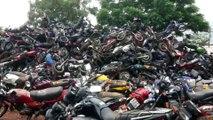 Mais de mil veículos são retirados do pátio do Detran