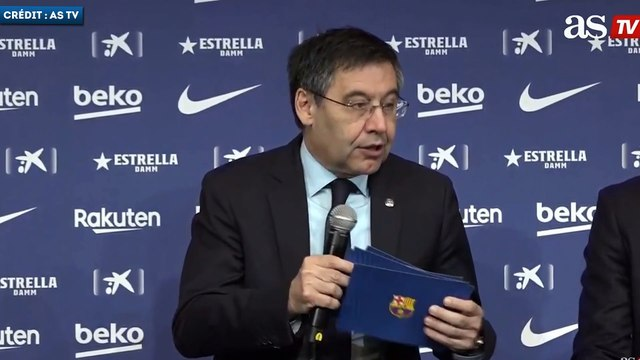 Josep Maria Bartomeu justifie l'éviction d'Ernesto Valverde