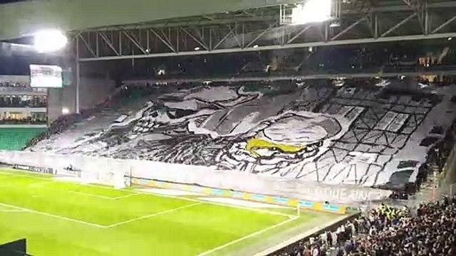 Le tifo retourné monstrueux des ultras de l'AS Saint-Etienne contre le PSG