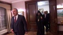 Çavuşoğlu, Türkiye Ermenileri Patriği Sahak Maşalyan'ı kabul etti