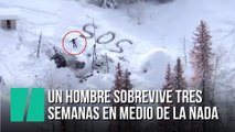 Este hombre sobrevive tres semanas en una montaña en Alaska