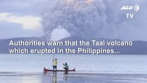 Philippines volcano blankets towns in ash