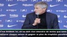 Barcelone - Setién : ''Tout gagner mais aussi bien jouer''