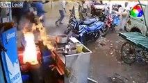 Ce stand street food prend feu : panique tout autour !