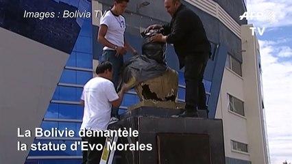 Les autorités boliviennes démantèlent la statue d'Evo Morales