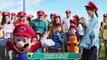 Videogame da vida real no parque da Nintendo