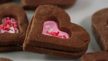 Chocolate-Marshmallow Linzer Heart Cookies