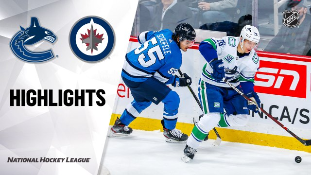 NHL Highlights | Canucks @ Jets 01/14/20