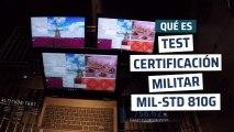 Certificación militar  MIL-STD-810G en portátiles Toshiba