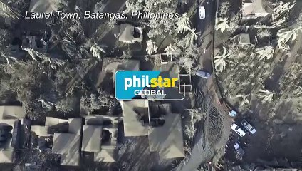 Taal volcano covers houses and streets in ash