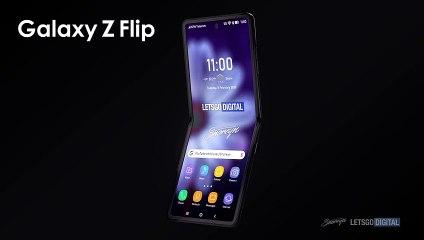 Samsung Galaxy Z Flip : rendu du design