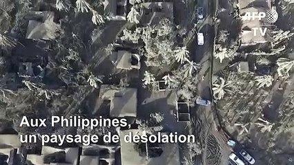 Le volcan philippin continue de cracher des cendres qui recouvrent les villes des alentours