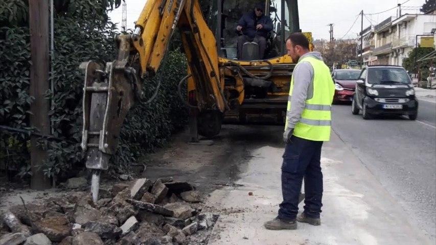 Λαμία: Αυτοψία Θ. Καραϊσκου και Κ. Σταυρογιάννη στα έργα πεζοδρόμησης και ηλεκτροφωτισμού στην οδό Στυλίδος