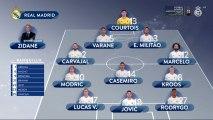 Alineación titular del Real Madrid ante el Sevilla en la jornada 20 de La Liga