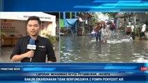 Banjir di Petamburan Akibat Hujan Deras