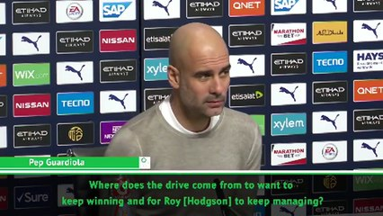 Hodgson must be bored at home to coach for so long! - Guardiola