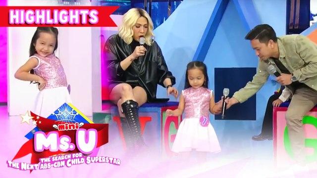 Vice and Jhong get amazed of Kitch Hernandez's Socorro walk | It's Showtime Mini Miss U