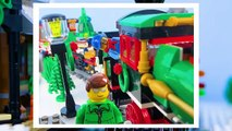 LEGO City Christmas Train Fail STOP MOTION LEGO Christmas Bad Luck - LEGO City - By Billy Bricks