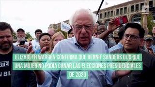 Elizabeth Warren confirma que Bernie Sanders dijo que una mujer no podía ganar las elecciones presidenciales de 2020