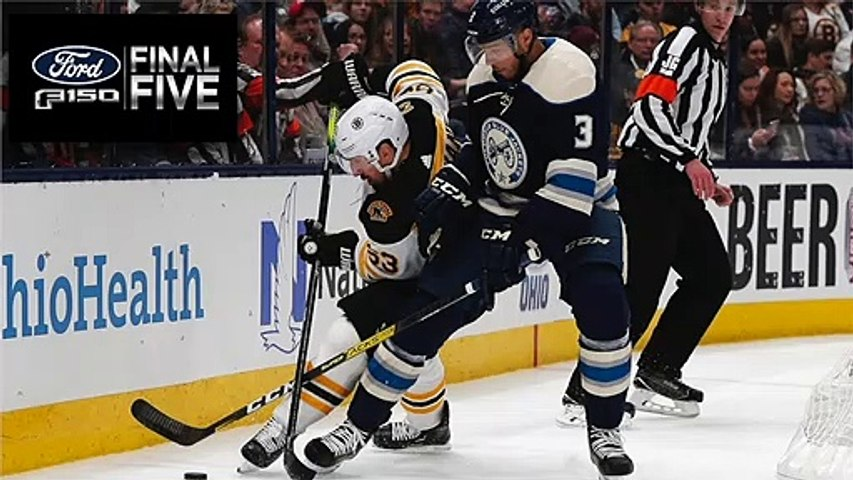 Ford Final Five Facts: Bruins Shutout Loss To Blue Jackets