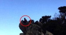 Liseli kız, herkesin gözü önünde kayalıklardan denize atladı