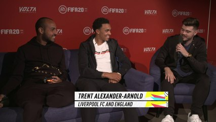 """FIFA eWorld Cup Champion Mohammed """"MoAuba"""" Harkous and Trent Alexander-Arnold play FIFA 20"""