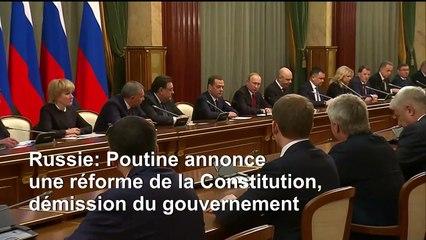 Russie: Poutine propose un référendum, le gouvernement démissionne