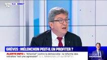 """Jean-Luc Mélenchon: la réforme des retraites """"est un coup dur porté contre le système de retraite par répartition"""""""
