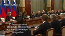 Russian govt in shock resignation after Putin calls for reforms