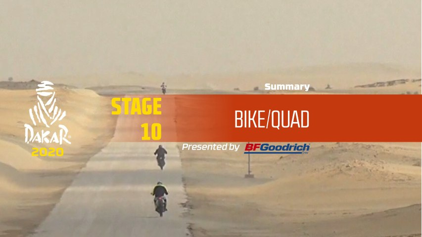 Dakar 2020 - Stage 10 (Haradh / Shubaytah) - Bike/Quad Summary