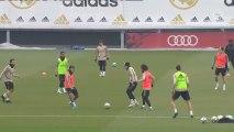 El Real Madrid entrena sin Ramos, Benzema y Hazard
