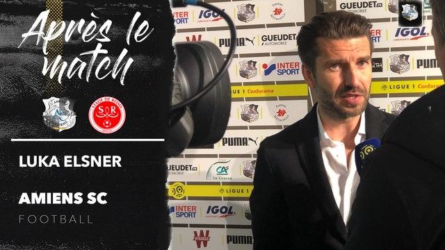 Après le match Amiens SC - Stade de Reims - Luka Elsner