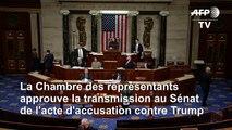 Destitution: La Chambre approuve la transmission au Sénat de l'acte d'accusation contre Trump