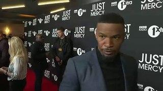 Jamie Foxx raves about Michael B. Jordan in Just Mercy